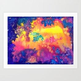 deep space - tie dye watercolor abstract Art Print