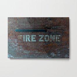 The (F) Ire Zone Metal Print