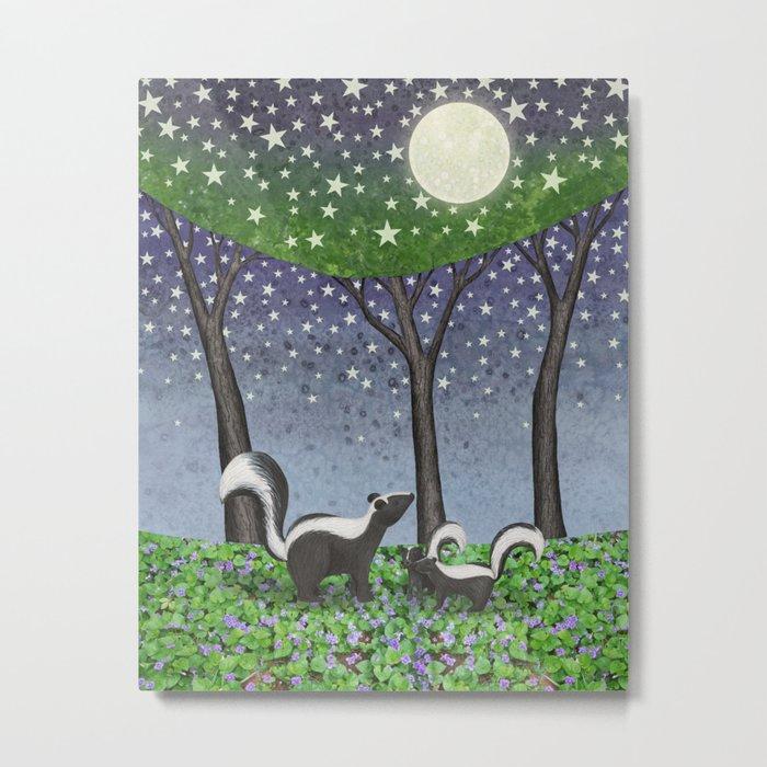 starlit striped skunks Metal Print
