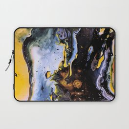 Blue and yellow abstract Laptop Sleeve