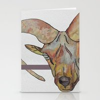 goat Stationery Cards featuring Goat by WaterLily