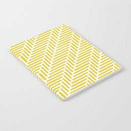 Herringbone 45 Yellow Notebook