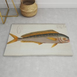 Vintage Dolphinfish Illustration (1785) Rug