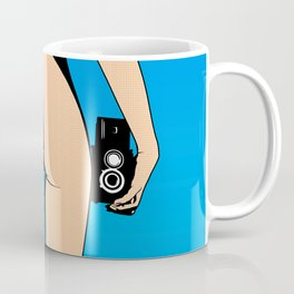 Cameraman Girl Pop art Coffee Mug