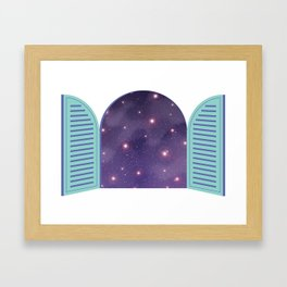 Universe from Window_02 Framed Art Print