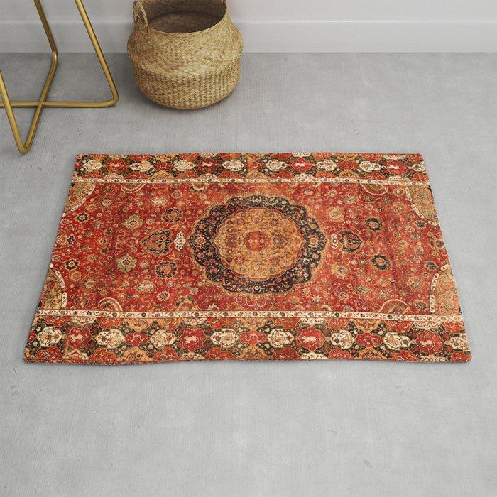 Seley 16th Century Antique Persian Carpet Print Rug