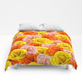 Roses Pastels Floral Collage Comforters
