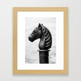 Vintage Horse Pole Framed Art Print