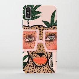 Tropical Glam Cat iPhone Case