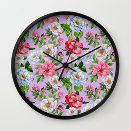 Vintage Floral Pattern No. 9 Wall Clock
