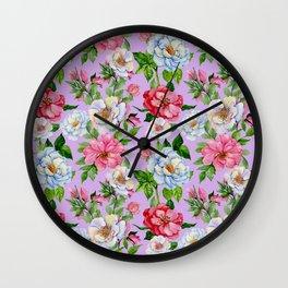 Vintage Floral Pattern No. 9 Wall Clock
