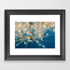 Dandy Drops in Royal Blue Framed Art Print