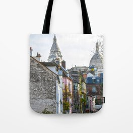 French street in Montmartre, Paris Tote Bag