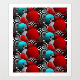 3D abstraction -27- Art Print