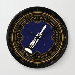 Falcon Heavy Wall Clock