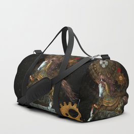 Steampunk,mystical steampunk unicorn Duffle Bag