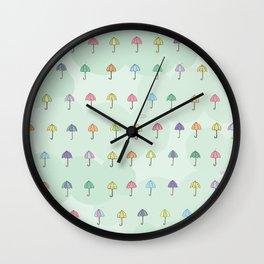 Umbrella For A Rainy Day Wall Clock