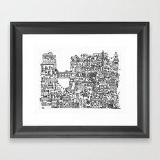 Busy City V Framed Art Print