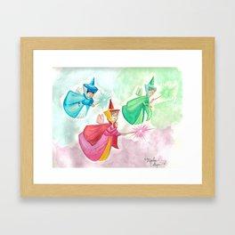 Faries Framed Art Print
