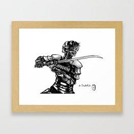 Inktober: Sword Framed Art Print
