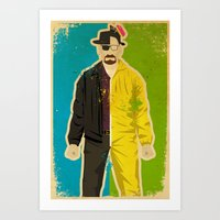 heisenberg Art Prints featuring Heisenberg by Danny Haas