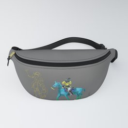 poloplayer turquoise grey Fanny Pack