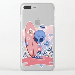Alien Surf - Serenity & Rose Quartz Clear iPhone Case