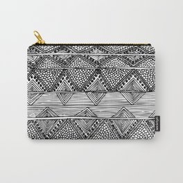 Abstract black and white digitised hand drawing art Carry-All Pouch