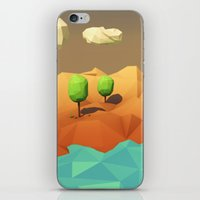 low poly iPhone & iPod Skins featuring Low Poly Landscape by error23