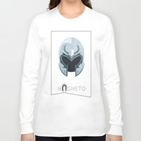 magneto Long Sleeve T-shirts featuring Magneto by Tony Vazquez