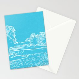 Tranquil trees blue  Stationery Cards