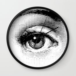 Lina Cavalieri - right eye Wall Clock