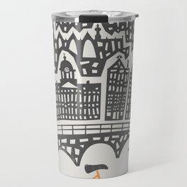 Amsterdam Cityscape Travel Mug