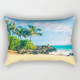 Paako Beach Makena Maui Hawaii Rectangular Pillow