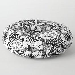 Hawaiian Polynesian Trbal Tatoo Print Floor Pillow