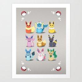 Evolution Bobbles Art Print