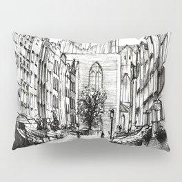 GOTHIC STREET OF POLISH CITY GDANSK IN GREY TONES Pillow Sham