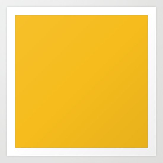Autumn Yellow Art Print