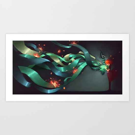 Coming together  Art Print