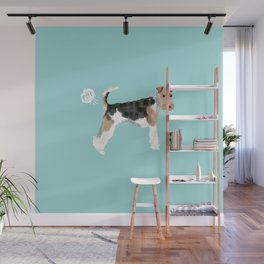 wire fox terrier funny farting dog breed pure breed pet gifts Wall Mural
