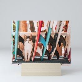 Surf & Purr Mini Art Print