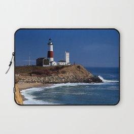 Crispy Morning at Montauk Point Lighthouse Long Island New York Laptop Sleeve