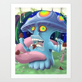 Cannibalism.. Not even once Art Print