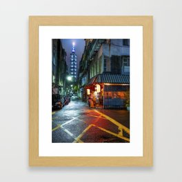 Night in Taipei Framed Art Print