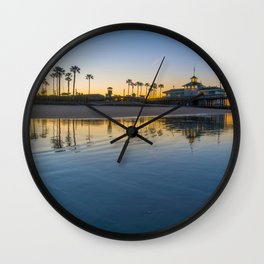 Wet Sand Sunrise Wall Clock