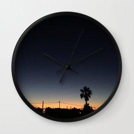 Ibiza, Sant Antonio bay at sunset Wall Clock