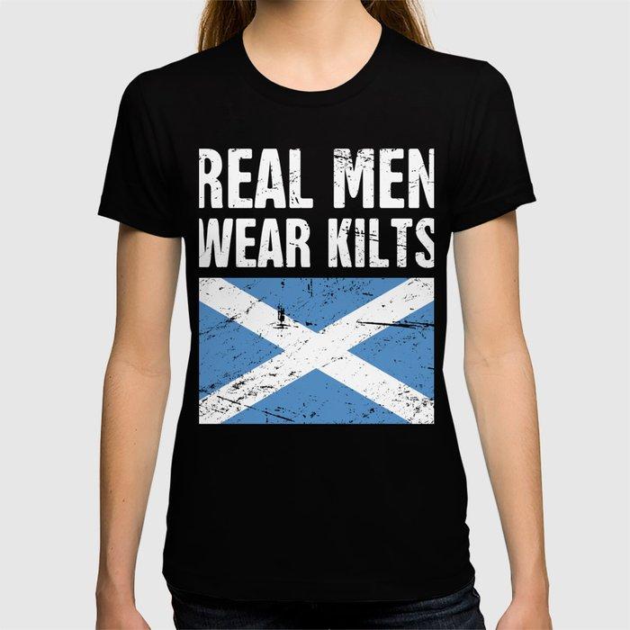 Scottish Flag | Real Men Wear Kilts T-shirt
