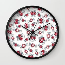 Holiday Peppermints Wall Clock