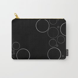 Bubbles on Black Carry-All Pouch
