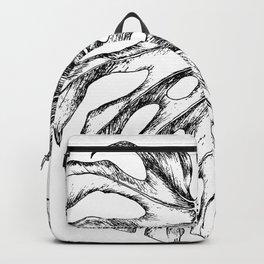 Monstera Leaf Hand Drawn Botanical Illustration Backpack